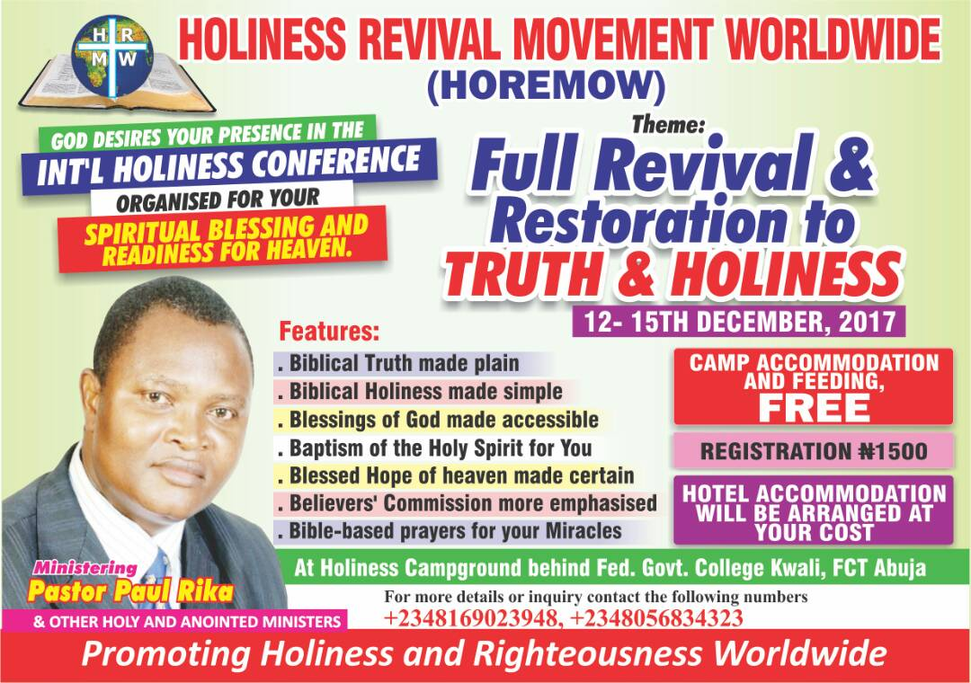 Logo of Holiness Revival Movement Worldwide